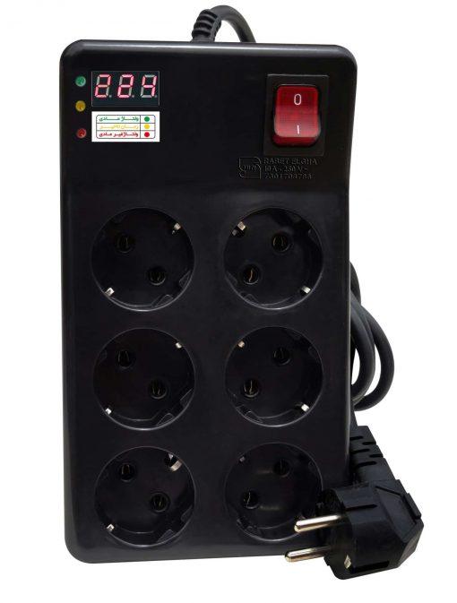 پریز شش راهی صوتی تصویری و کامپیوتر کلیددار- رابط القا