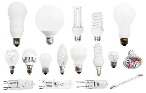 انواع لامپ و تفاوت های آنها